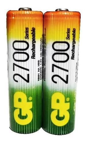 Imagen 1 de 1 de Batería Pila Recargable Aa 2700 Mah 1 Par Ideal Wii, Camara