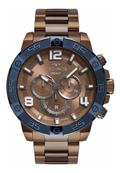 Relógio Technos Masculino Legacy Marrom Os2abo/4m