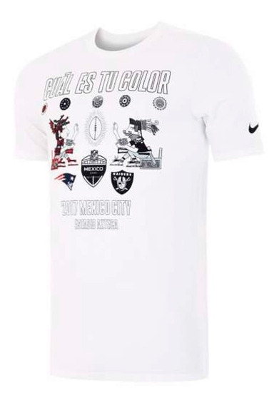 Playera Atletica Nfl Raiders Vs Patriots Hombre Nike Nk210
