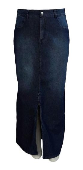 Saia Jeans Evangélica Longa Plus Size Tamanhos 50 Ao 60