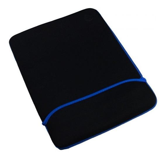 Capa Para Notebook Hp 14 Preto / Azul Dupla Face