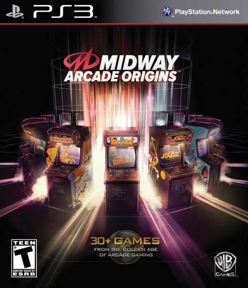 Midway Arcade Origins Ps3 Lacrado +de 30 Jogos Mídia Física