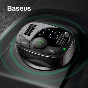 Baseus Dual Usb Carregador Carro Com Transmissor Fm Bluetoot