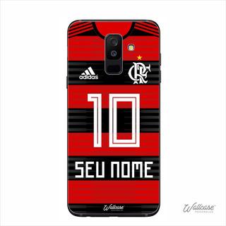 Capa Capinha Time Flamengo Galaxy J8 Com Nome E Numero