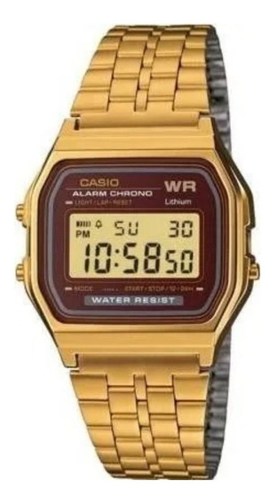 Relógio Casio Original Dourado V. Vinho A159wgea + Frete +nf