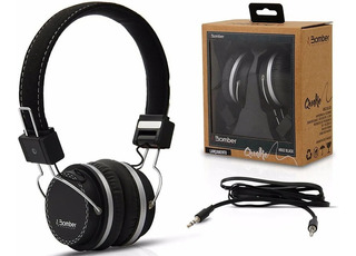 Auriculares Vincha Bomber Modelo Nuevo Aux Negros Hb02 Black