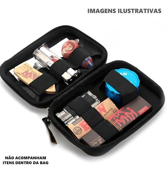 Case Bag Puff Estojo Guarda Dichavador Isqueiro Pipe Bolador