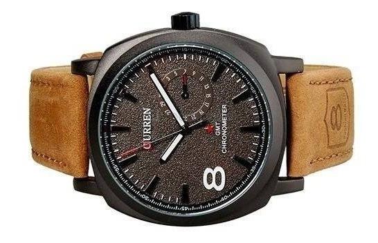 Relógio Masculino Curren Analógico 8139 Pulseira Couro
