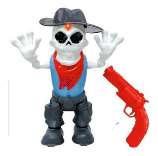 Zombie Blast Muñeco Con Arma De Disparo Laser Skeleton