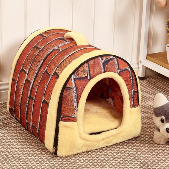 Dog House Kennel Nest With Mat Foldable Pet Dog Bed Cat Bed