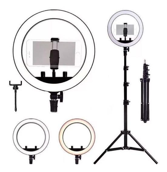 Iluminador Led Ring Light Rl12 Completo 1,50m Profissional