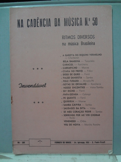Partitura Cifras Cadencia Da Musica Nº 50 20 Musicas
