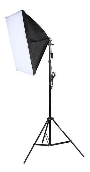 Kit Iluminação Estúdio Softbox E27 40x60cm E Tripé - Com Nfe