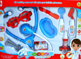 Set Doctora Doctor Botiquin Kit Medico 9pcs Juguete Niño