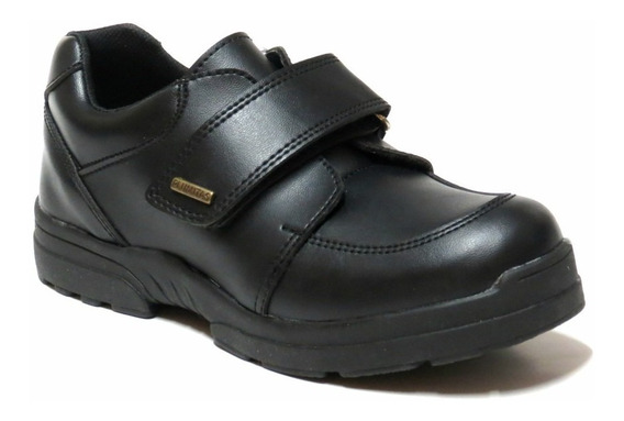 Zapatos Niños Colegial Abrojo Plumitas 27 Al 33 3875