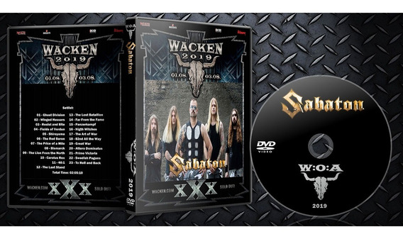 Dvd Sabaton Wacken 2019
