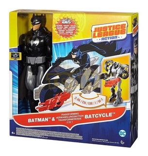 Muñeco Batman Y Batimoto Transformable Justice League Full