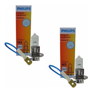Par Lâmpada H3 Philips 55w 12v Standart