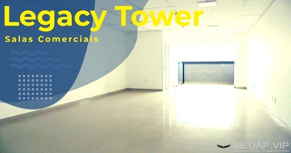 Sala Comercial Para Alugar Em Santos - Legacy Tower - Sl244 - 33602238
