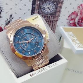 Relógio Feminino Mk8358 100 Series Azul Rose - Michael Kors