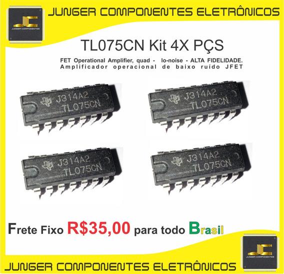 Tl075cn -tl075 - Tl075c - Para Receiver - Equalizador - Cygnus - Gradiente - Polyvox - Sony - Kit Com 4x Peças