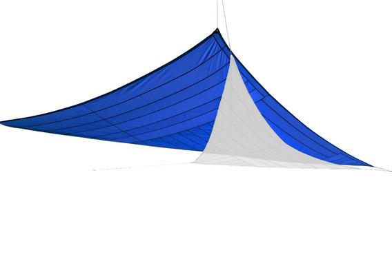 Toldo Triangular Tipo Vela Arenath 4 X 4mts Portatil Azul