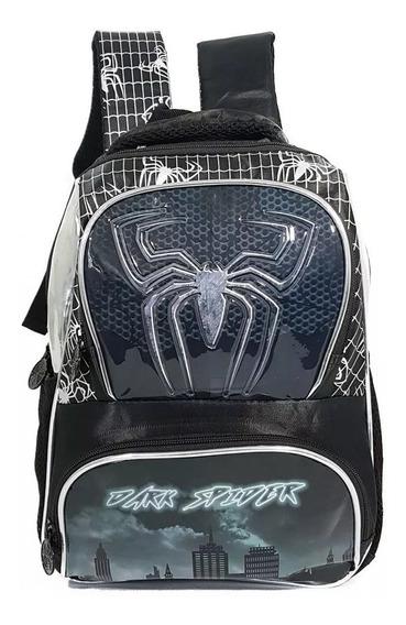 Mochila Infantil Escolar Aranha Menino Spider Denlex Dl0352