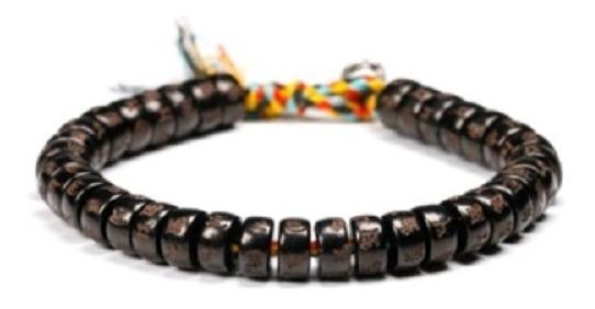 Pulsera Tibetana Negra, Nudos De La Suerte, Protección