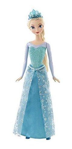 Imagen 1 de 4 de Mattel Disney Frozen Sparkle Princesa Elsa Doll