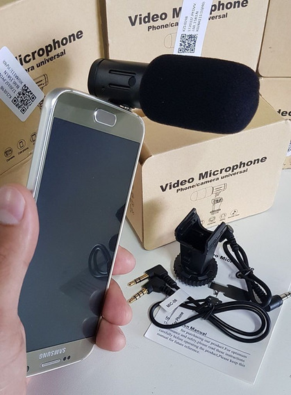 Microfone Direcional Para Android iPhone Dslr Rode Boya Top