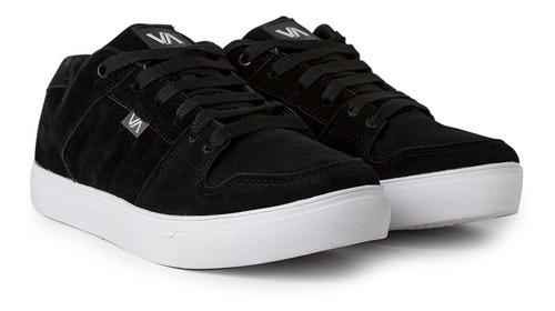 Imagen 1 de 4 de Zapatillas Skate Urbanas Cuero Negro Envio Gratis Valimited