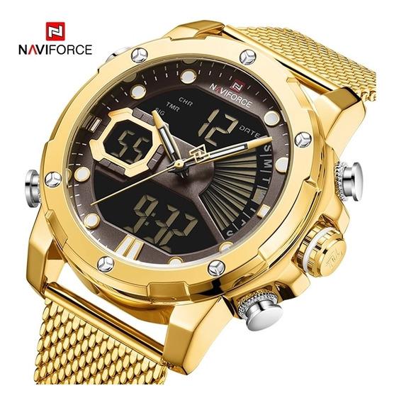Relógio Masculino Naviforce De Luxo 100% Funcional Nf9172