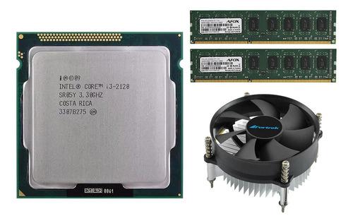 Processador Intel Core I3 2120 + Memoria Ram 8gb + Cooler