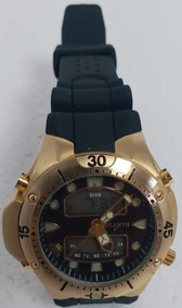 Relógio Masculino Atlantis G3154 Aqualand Preto - Dourado