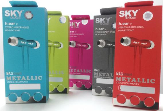 Audifono Sky Metalico Manos Libres Ex750mt