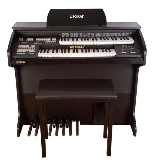 Órgão Eletrônico Tokai D-2 Dual Voice Preto