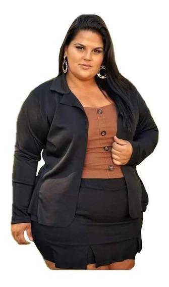 Blazer Feminino Plus Size Neopreme G1 G2 G3 Lançamento Moda