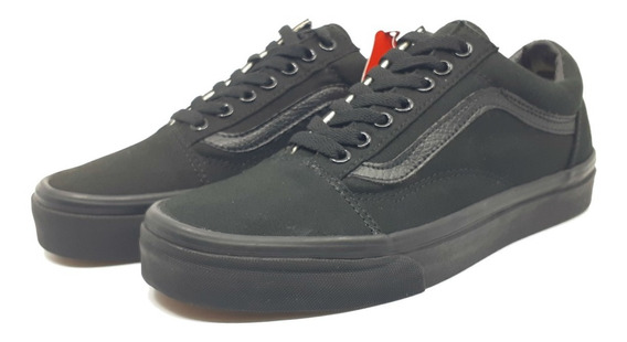 Vans Canvas Old Skool Nuevos Originales Unisex Negros