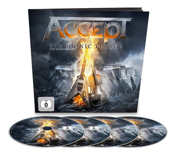 Accept Symphonic Terror Blu Ray + Dvd + 2cd Earbook