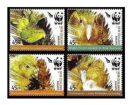 Fauna - Wwf - Kakapo - Nueva Zelanda - Serie Mint