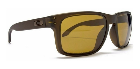 Óculos De Sol Oakley Holbrook Marrom Masculino Polarizado