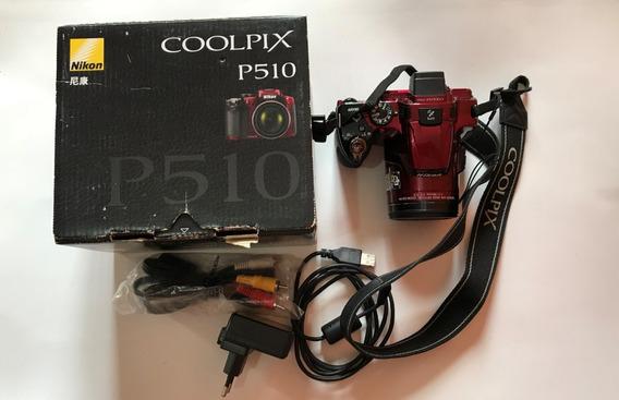 Nikon Coolpix P510 16.1 Megapixels Gps Full Hd Vinho