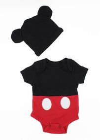 Pañalero Disney Mickey Mouse Gorro Original Disfraz Bebe