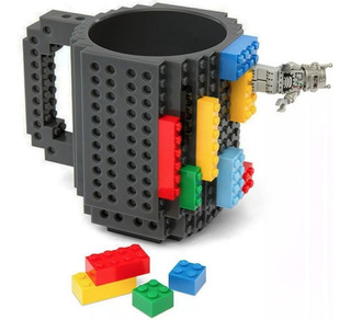 Taza Build-on Con Diseño De Bloks De Construccion Lego H1188