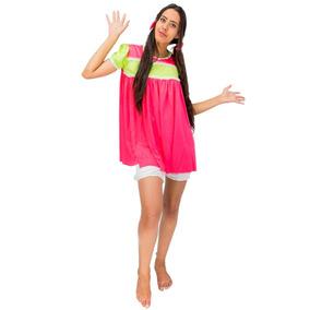 Roupa Vestido Da Popis Infantil Turma Do Chaves Com Laço