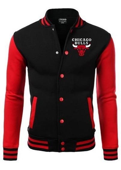 Jaqueta College Chicago Bulls Bordado Americana No Brasil !