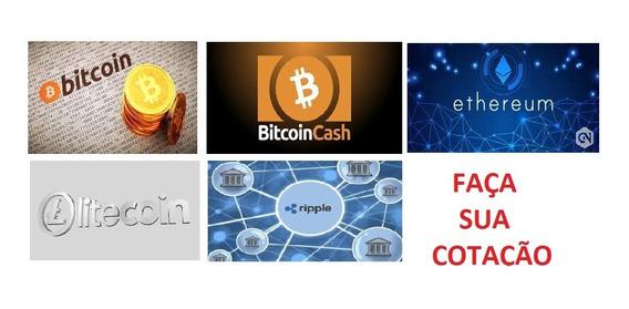 Bitcoin Ethereun Litecoin Ripple E Muito Mais Faça Cotação
