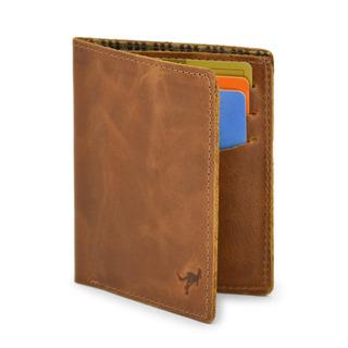 Carteira Porta Cartão/cnh Vertical Couro Legítimo Natural