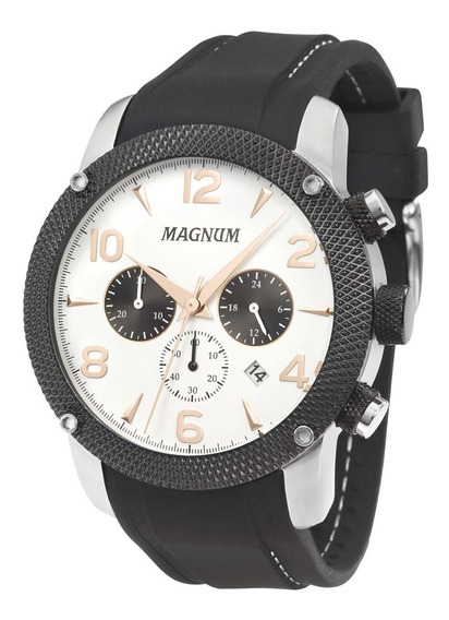 Relógio Masculino Magnum Analógico Ma34889q - Prata/preto