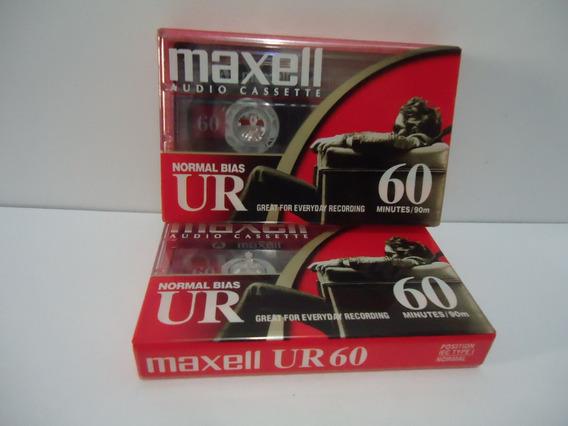 Fita K7 Maxell Ur60 Lacradas (2 Unidades)